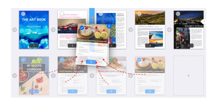 PDF rearrange